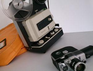 8ミリカメラ(YASHICA 30 L)と映写機(ELMO FP-A DELUXE)